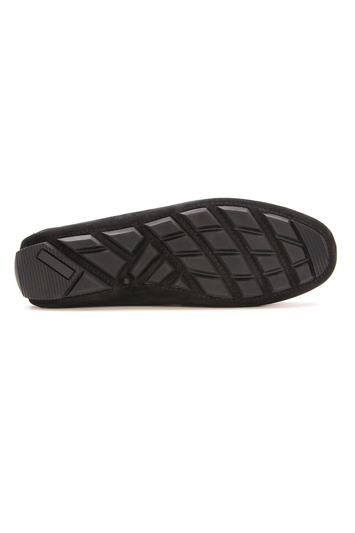 Pegia Genuine Suede Men's Loafer Shoes 500901 Black