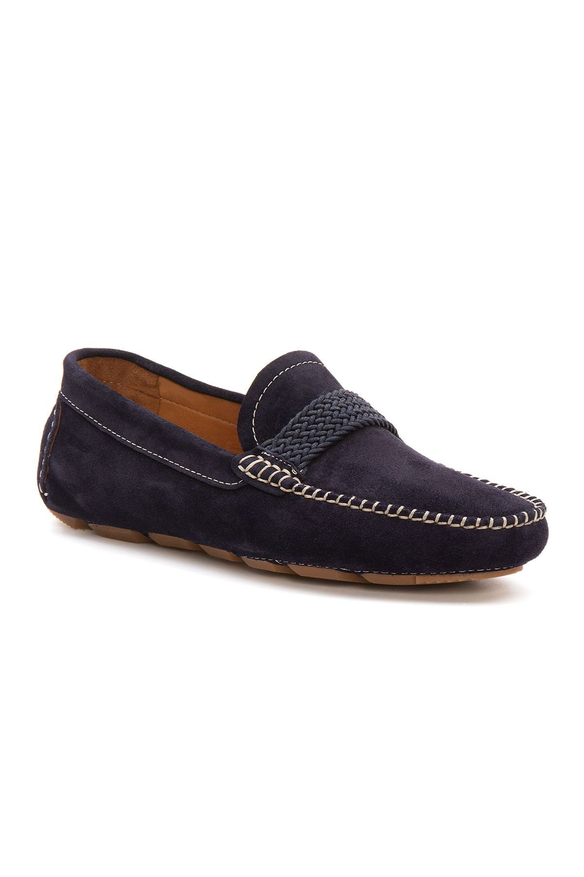 Pegia Genuine Suede Men's Loafer Shoes 500904 Navy blue