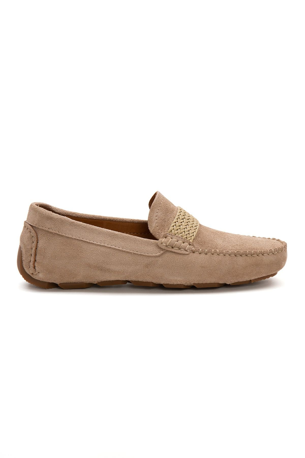 Pegia Genuine Suede Men's Loafer Shoes 500904 Beige