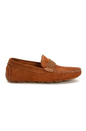 Pegia Genuine Suede Men's Loafer Shoes 500904 Ginger