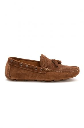 Pegia Genuine Suede Men's Tassel Loafer 500903 Ginger