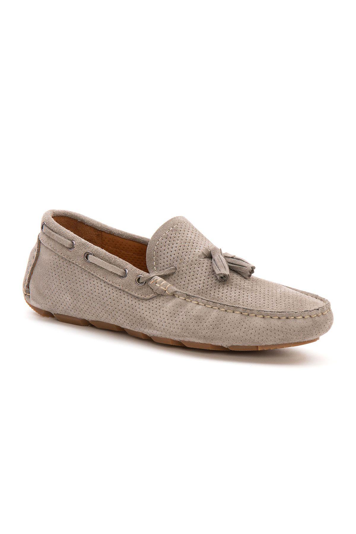 Pegia Genuine Suede Men's Tassel Loafer 500903 Gray
