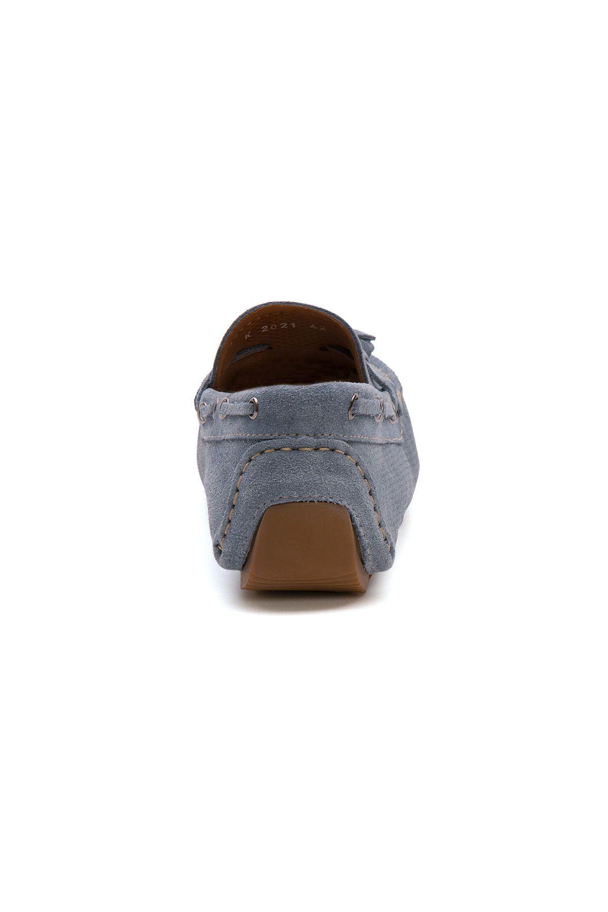 Pegia Genuine Suede Men's Tassel Loafer 500903 Blue