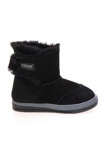 Pegia Sheepskin Children's Boots 186007 Black