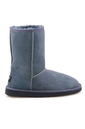 Pegia Genuine Sheepskin Classic Women's Boots 191011 Dark Gray