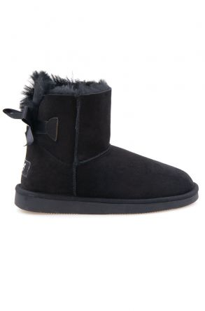 Pegia Genuine Sheepskin Women's Boots 191061 Black