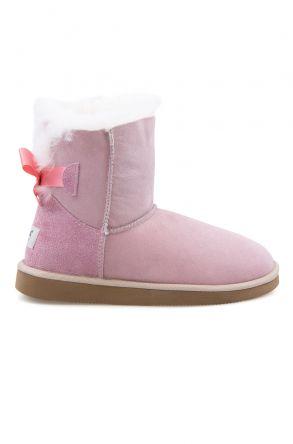 Pegia Genuine Sheepskin Women's Boots 191061 Pink