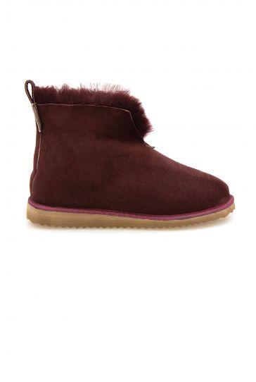 Pegia Sheepskin Women's House Boots 191200 Claret red