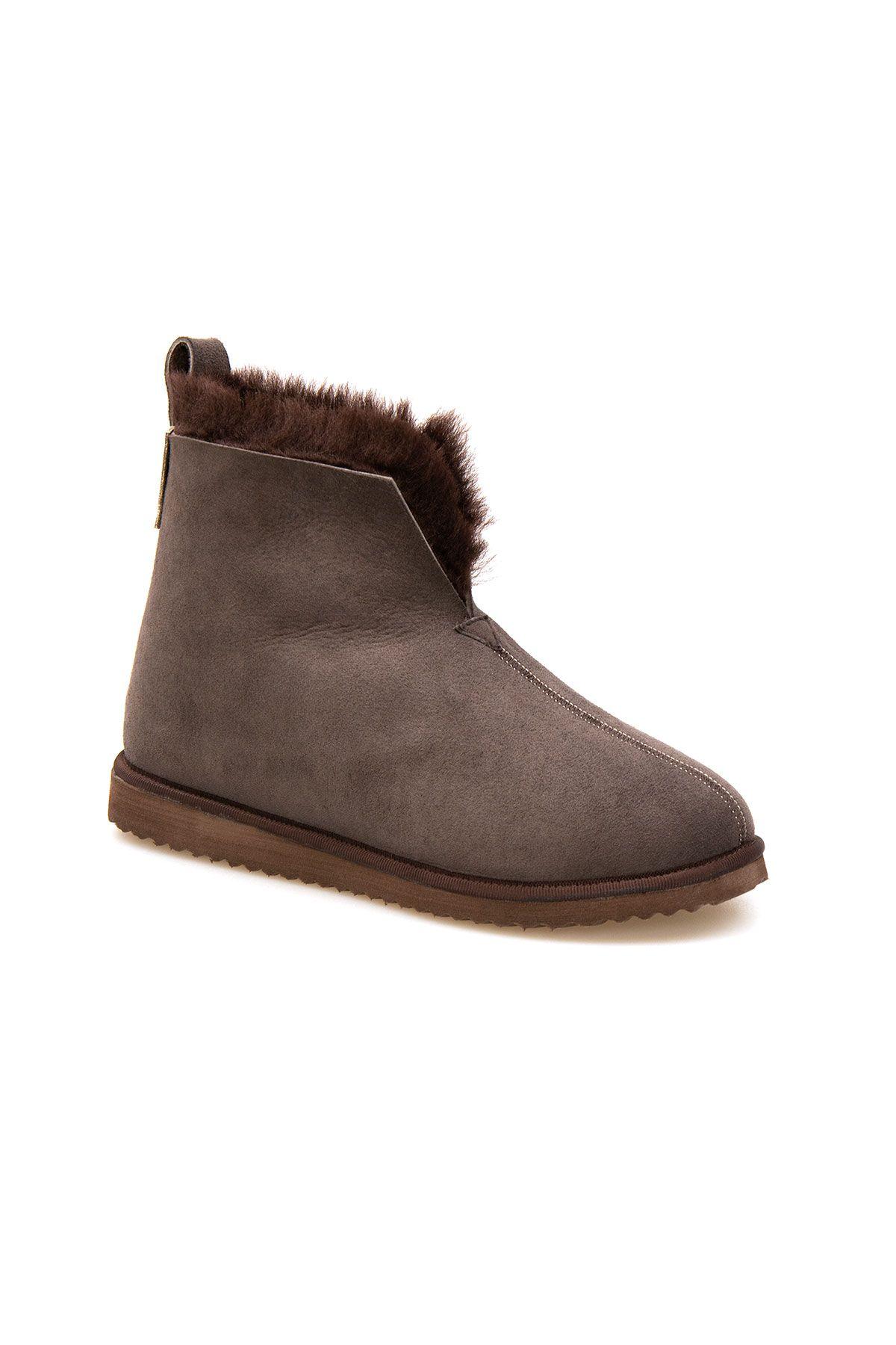 Pegia Sheepskin Women's House Boots 191200 Brown
