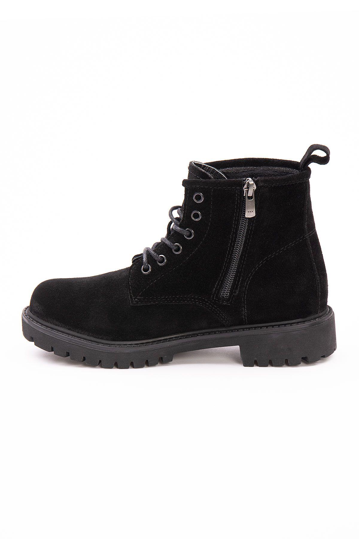 Pegia Genuine Suede Women's Boots 500805 Black