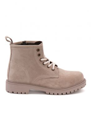 Pegia Genuine Suede Women's Boots 500805 Beige