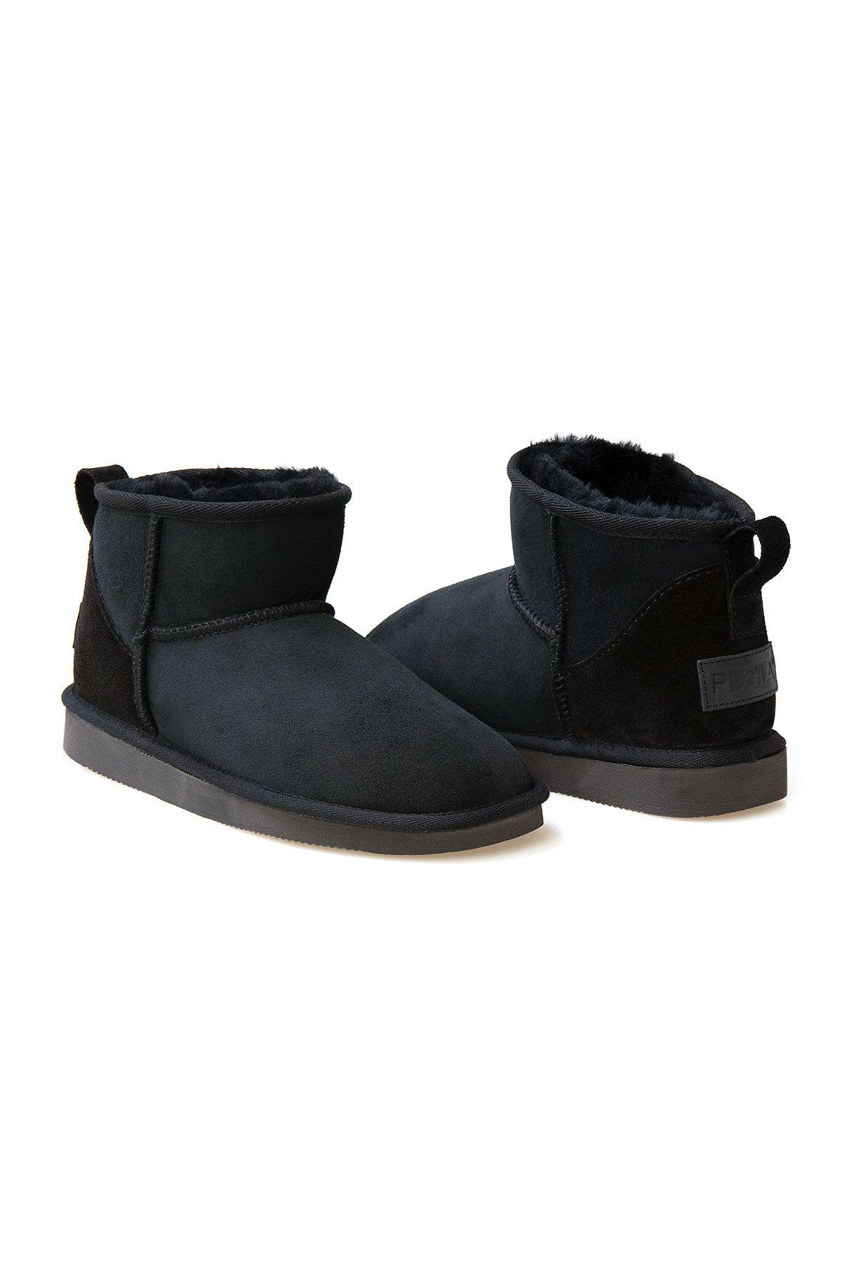 Pegia Genuine Suede Women's Mini Boots 191130 Black