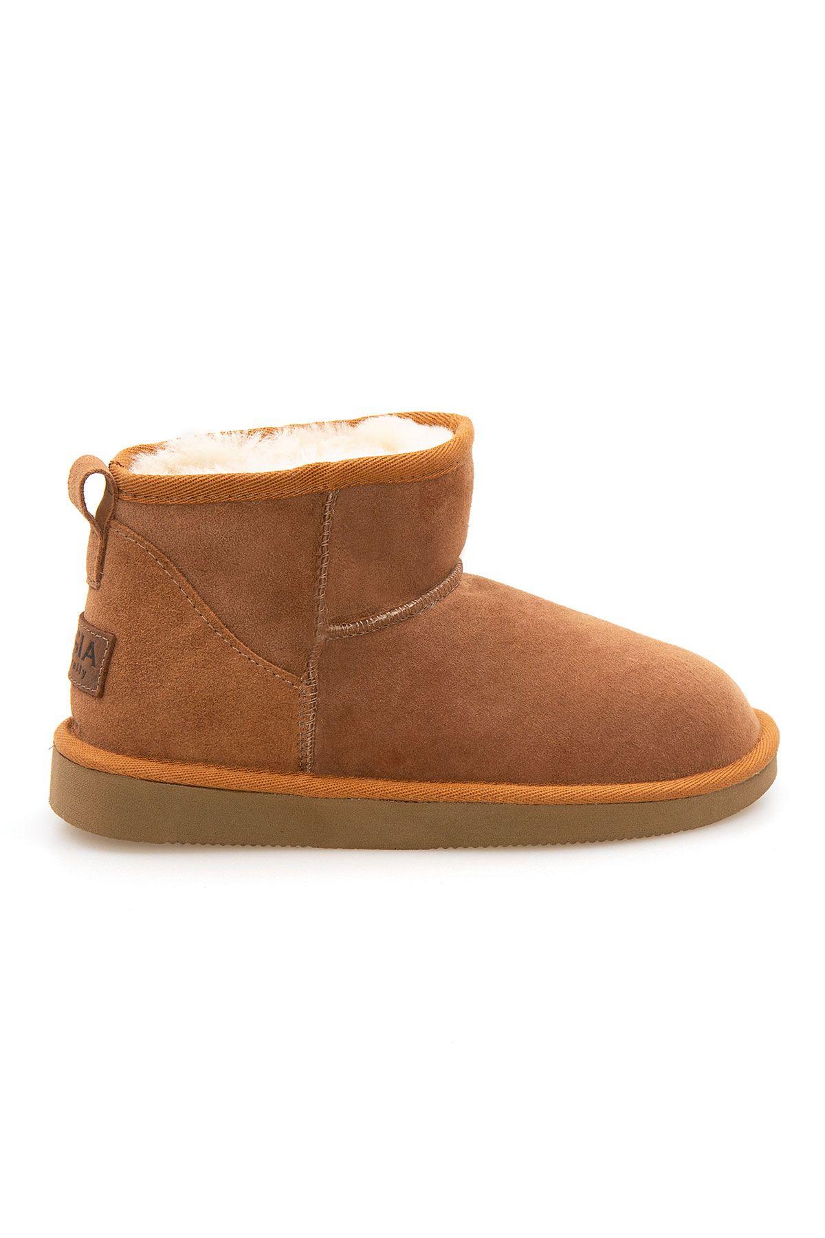 Pegia Genuine Suede Women's Mini Boots 191130 Ginger