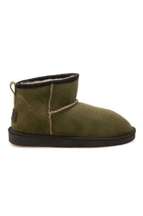 Pegia Genuine Suede Women's Mini Boots 191130 Khaki