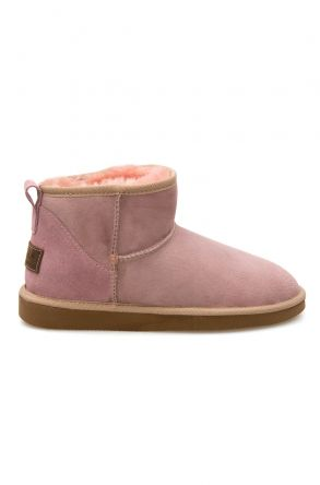 Pegia Genuine Suede Women's Mini Boots 191130 Pink