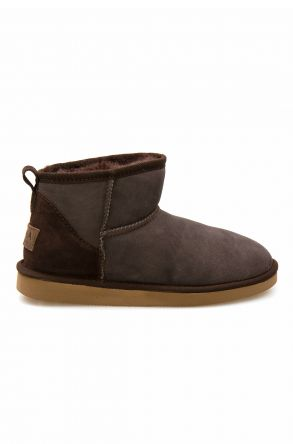 Pegia Genuine Suede Women's Mini Boots 191130 Brown