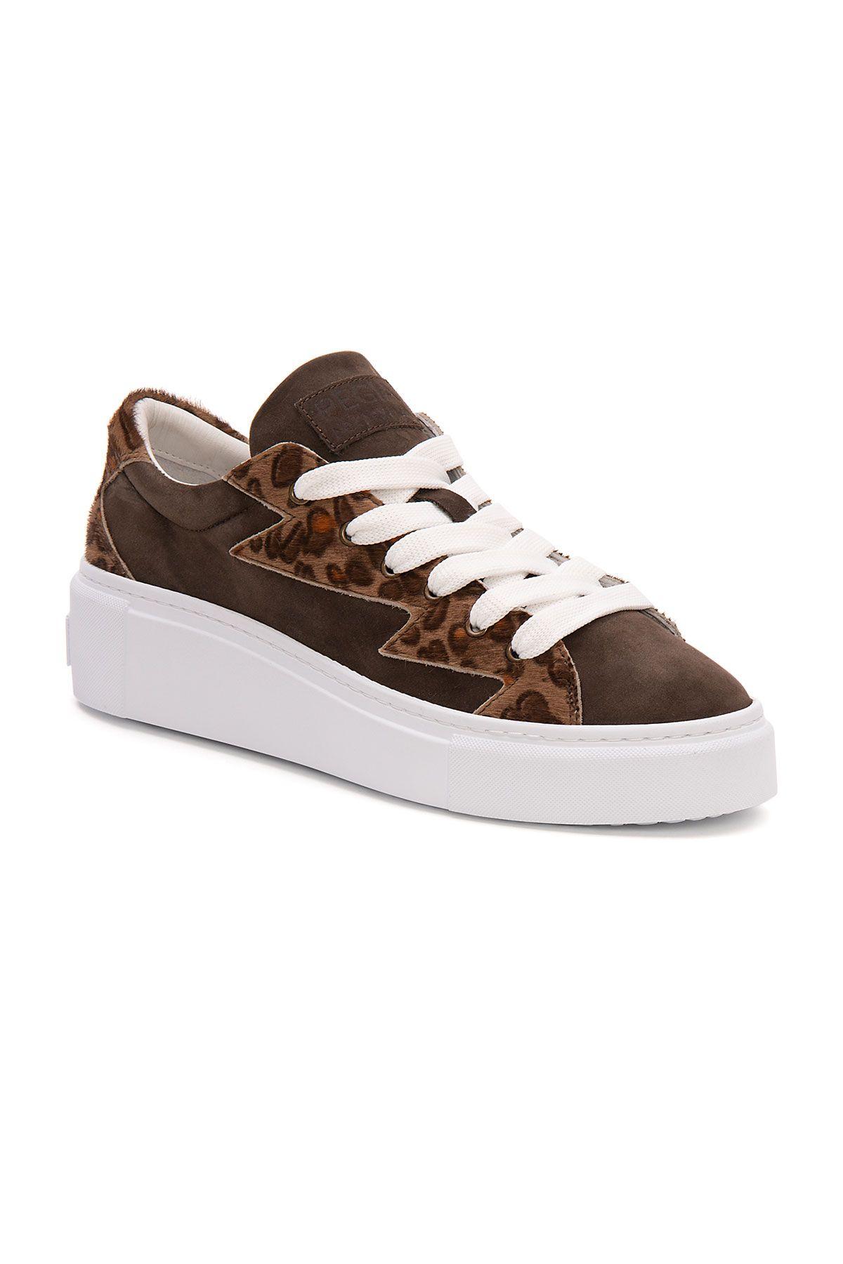 Pegia Genuine Suede Women's Sneaker LA1508 Brown