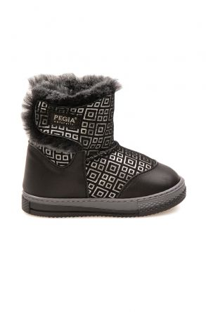 Pegia Children's Shearling Boots 186030 Black
