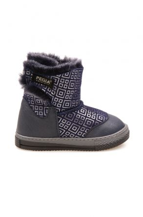 Pegia Children's Shearling Boots 186030 Navy blue