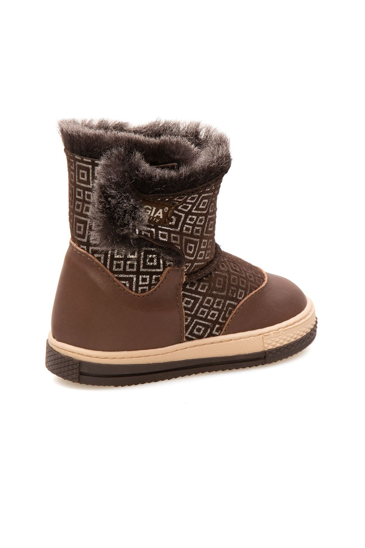Pegia Children's Shearling Boots 186030 Brown