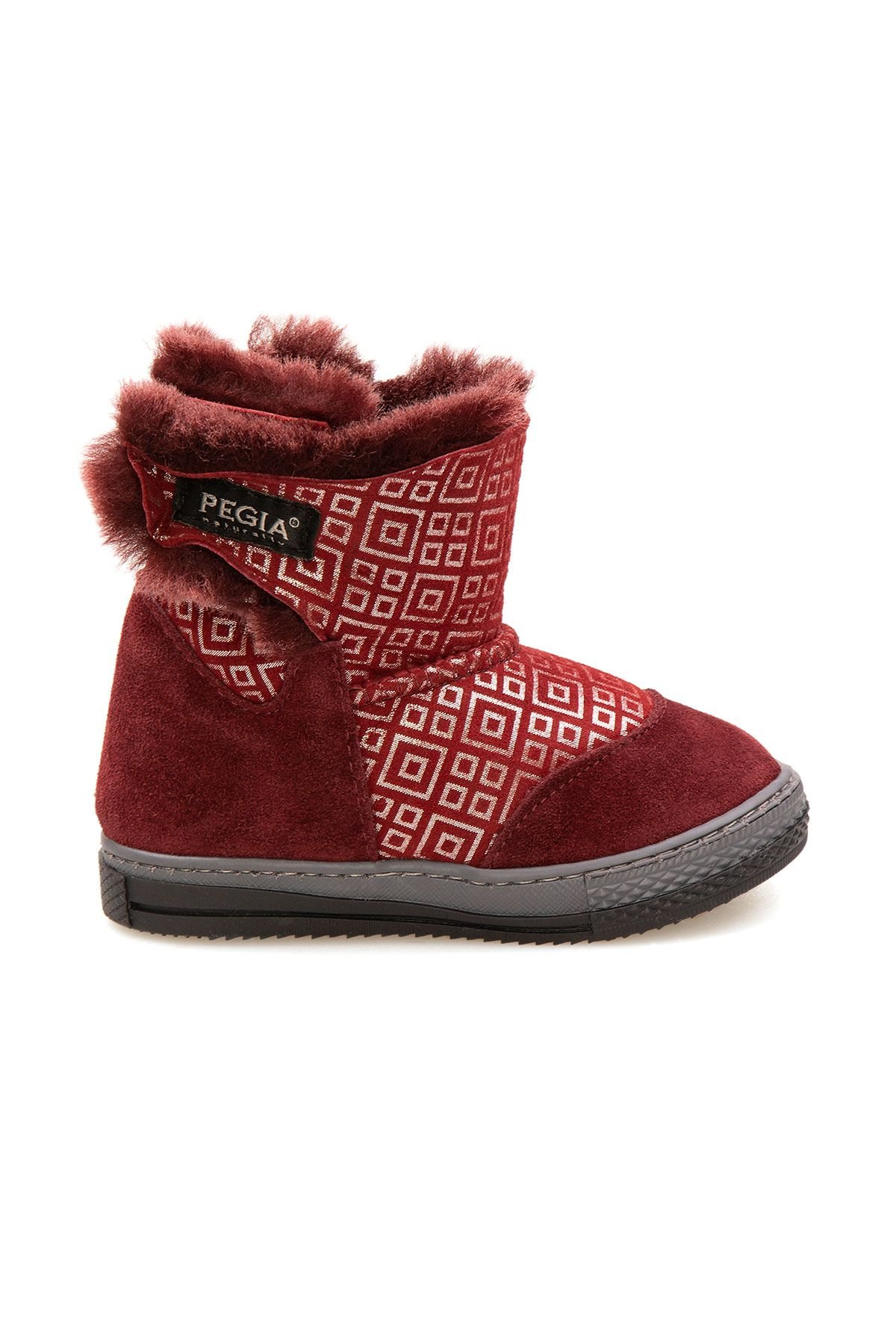 Pegia Children's Shearling Boots 186031 Claret red