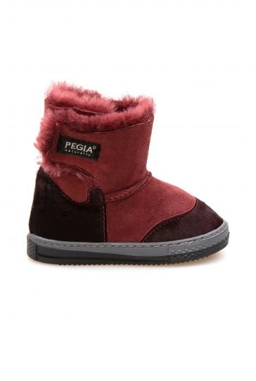 Pegia Children's Shearling Boots 186032 Claret red