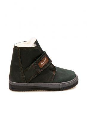 Pegia Velcro Sheepskin Children's Boots 186034 Khaki