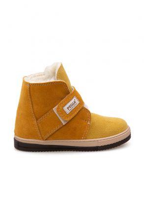 Pegia Velcro Sheepskin Children's Boots 186034 Yellow