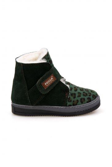 Pegia Velcro Sheepskin Children's Boots 186035 Khaki