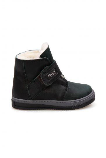 Pegia Velcro Sheepskin Children's Boots 186036 Khaki