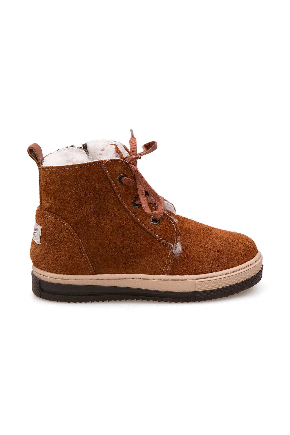 Pegia Kids Zippered Shearling Boots 186033 Ginger