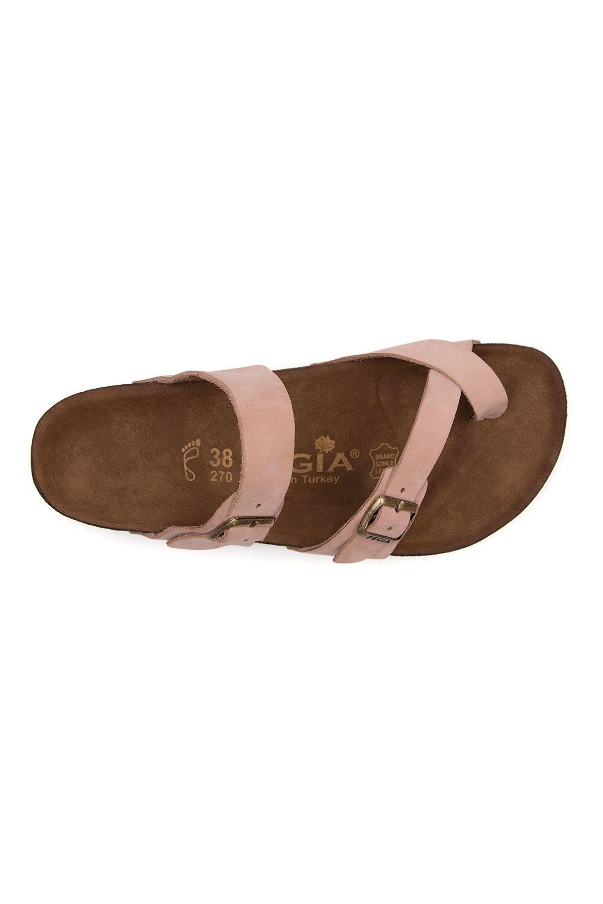 Pegia Women's Leather Slippers 215522 Powdery