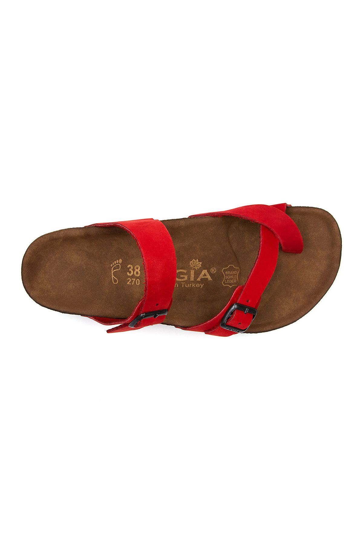 Pegia Women's Leather Slippers 215522 Red