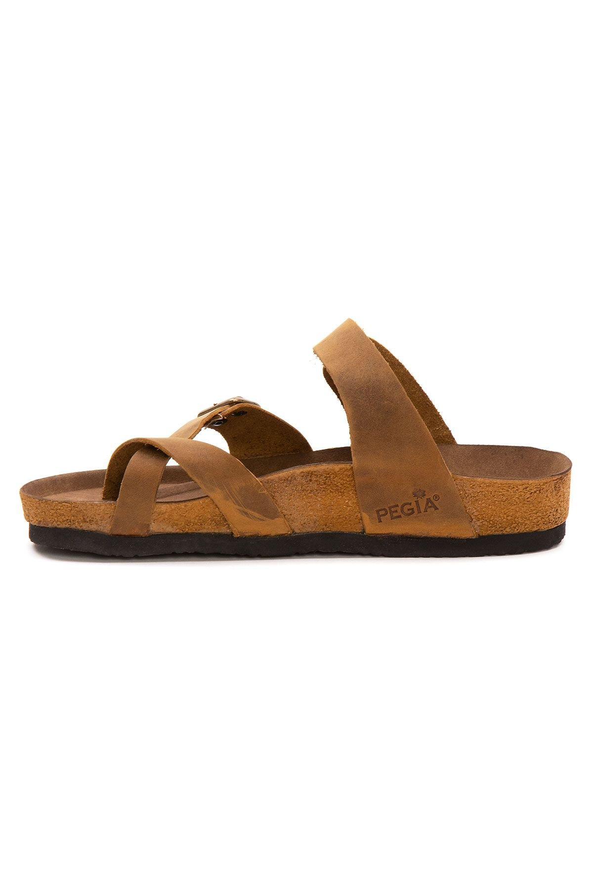 Pegia Women's Leather Slippers 215522 Ginger