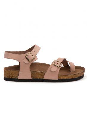 Pegia Women's Leather Sandals 215523 Powdery