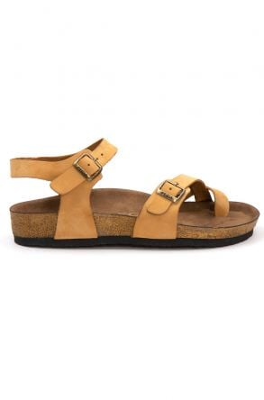Pegia Women's Leather Sandals 215523 Yellow