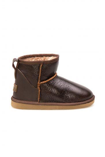 Pegia Sheepskin Kids Boots 186056 Brown