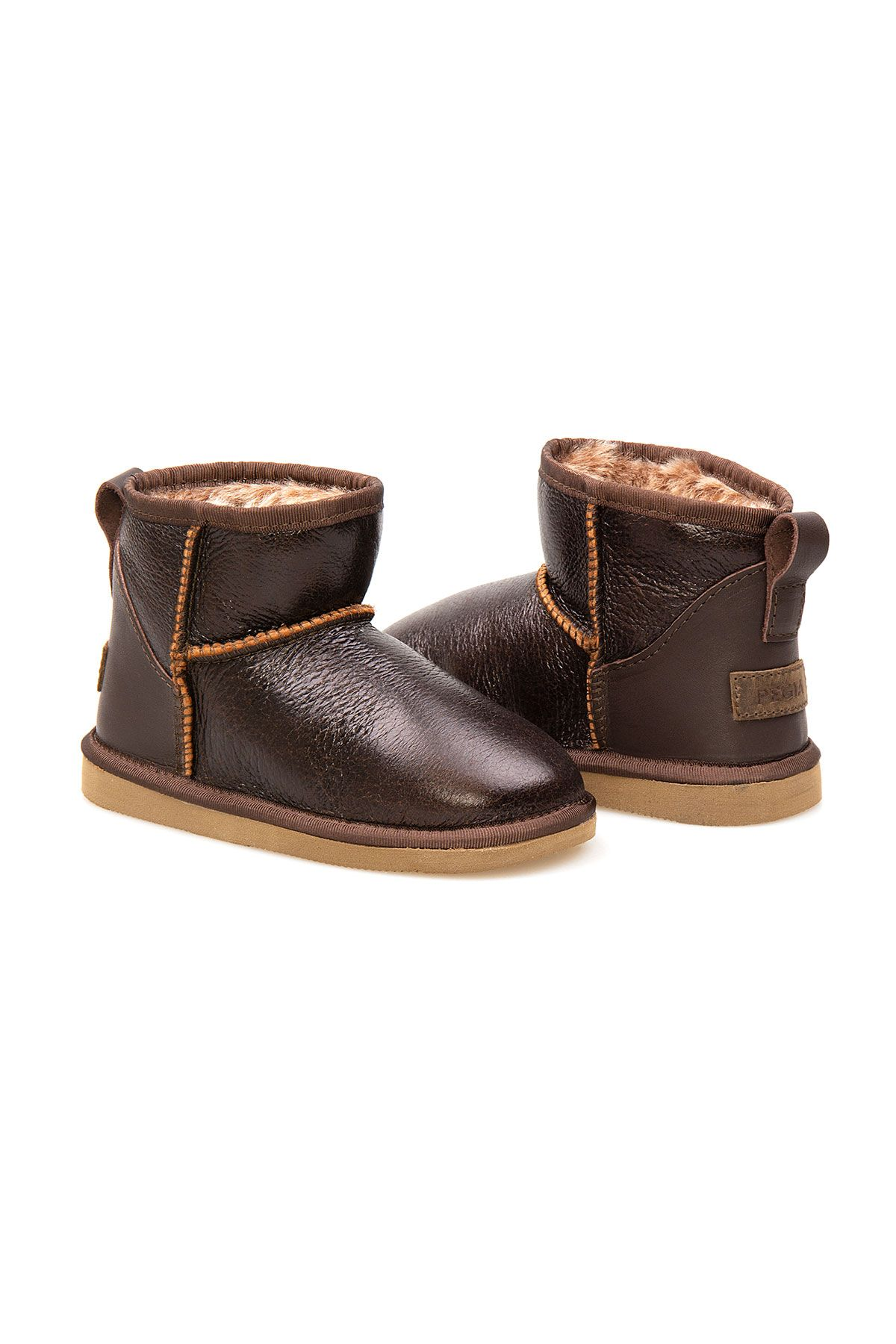Pegia Sheepskin Kids Boots 186056 Brown