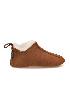 Pegia Kid's Shearling House Shoes 980810 Ginger