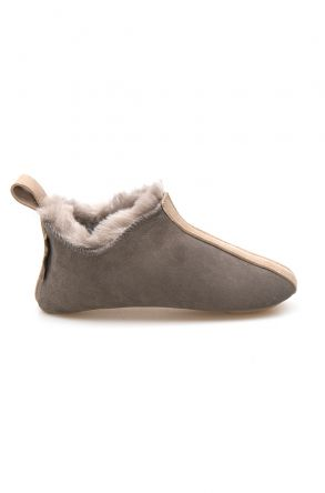 Pegia Kid's Shearling House Shoes 980810 Gray