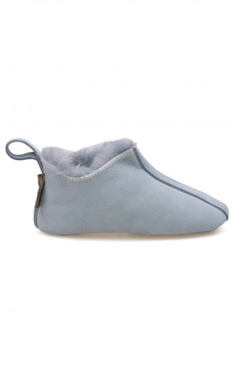 Pegia Kid's Shearling House Shoes 980810 Blue