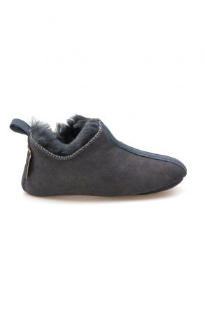 Pegia Kid's Shearling House Shoes 980810 Dark Gray
