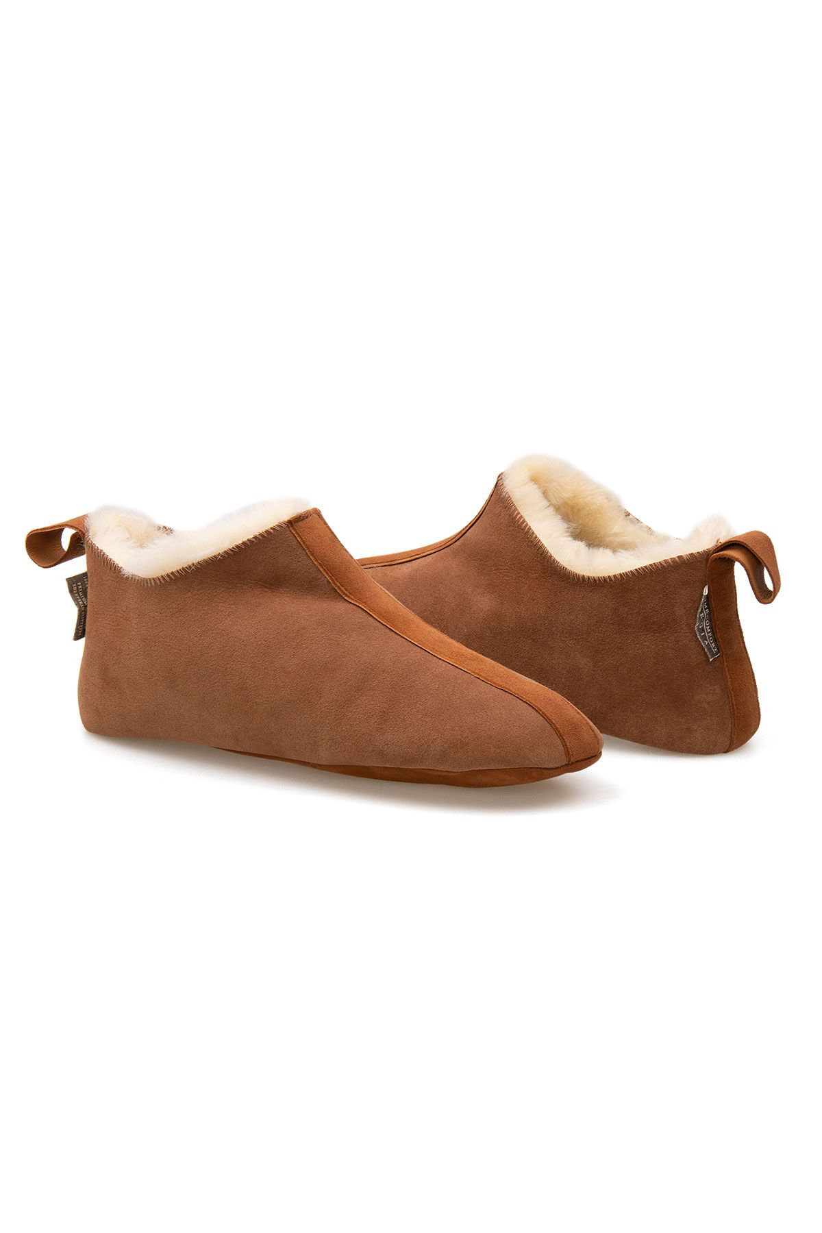 Pegia Men's Shearling House Shoes 980610 Ginger