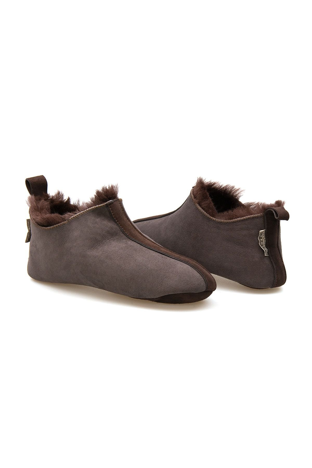 Pegia Men's Shearling House Shoes 980610 Brown