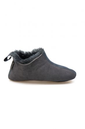 Pegia Men's Shearling House Shoes 980610 Dark Gray