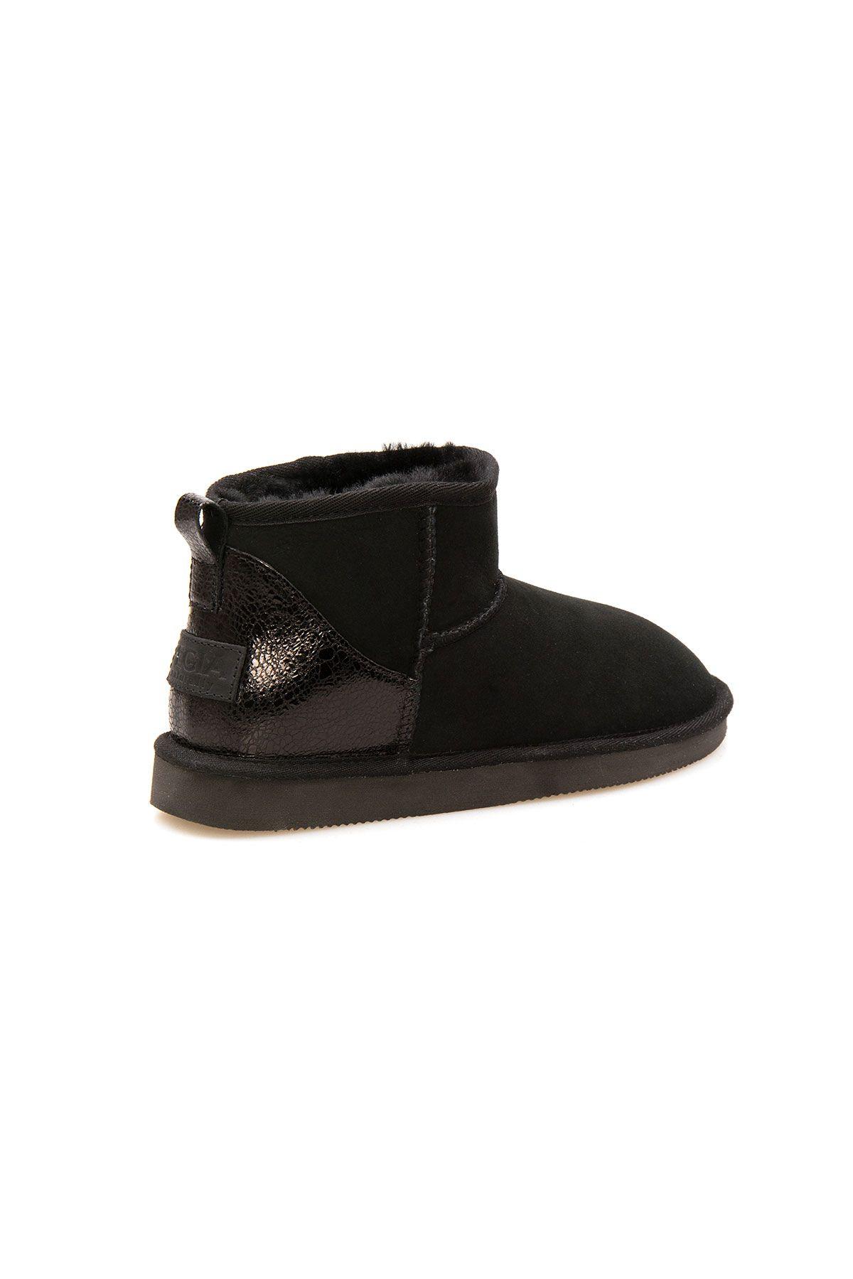 Pegia Shearling Women's Mini Boots 191133 Black