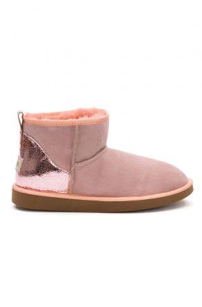 Pegia Shearling Women's Mini Boots 191133 Pink