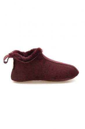 Pegia Women's Shearling House Shoes 980710 Claret red