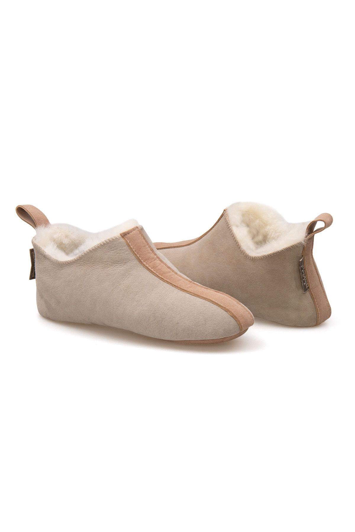 Pegia Women's Shearling House Shoes 980710 Beige