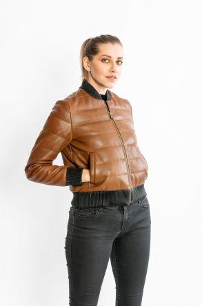 STUDIO MORIANO HGenuine Sheepskin Women's Jacket 19CB044 Ginger